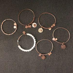 Alex and ani bracelets 6 total